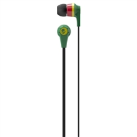 Skull Candy 2012 Ink'd 2.0 Rasta Earbuds  - Red/Green/Black