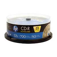 HP LightScribe CD-R 25-Pack Spindle