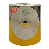 HP DVD+R 16x 4.7GB/120 Minute Disc 100-Pack