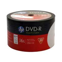 HP Printable DVD-R 16x 4.7GB - 50 Pack