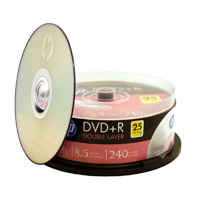 HP DVD+R DL 8X 8.5GB/240 Minute Disc 25-Pack Spindle