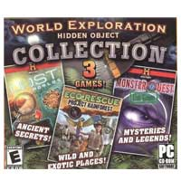 Gator World Exploration Hidden Object Collection: Lost Worlds, EcoRescue Project Rainforest, History Channel Monster Quest The Game (PC)
