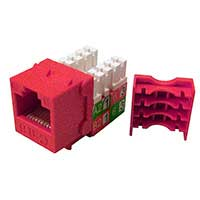 Shaxon CAT6 RJ45/110 Keystone Jack Red Single Pack