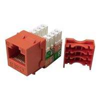 Shaxon CAT6 RJ45/110 Keystone Jack Orange Single Pack