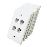 Shaxon 4 Port Single Gang Keystone Wall Plate White 1 Plate