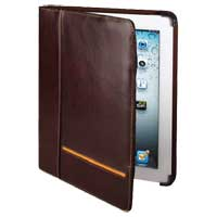 Cyber Acoustics iPad 3 Leather Portfolio Brown