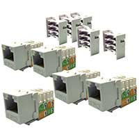 Shaxon CAT6 RJ45/110 Keystone Jack White 5-Pack
