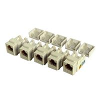 Shaxon CAT6A RJ45 to 110 Keystone Jack White 5-Pack