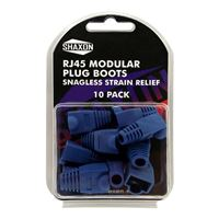 Shaxon RJ-45 Blue Snagless Molded Look Strain Relief Boot 10 Pack