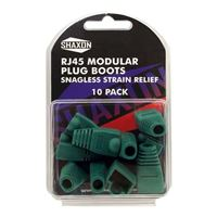 Shaxon RJ-45 Green Snagless Molded Look Strain Relief Boot 10 Pack