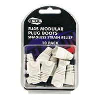 Shaxon RJ-45 White Snagless Molded Look Strain Relief Boot 10 Pack