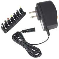Audiovox Electronics 7-Tip Universal 300mA AC to DC Power Adapter 1.5V to 12V AH30BR