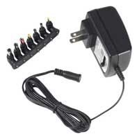 Audiovox Electronics 7-Tip Universal 500mA AC to DC Power Adapter 3V to 12V AH50BR