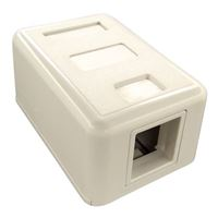 Shaxon 1 Port Keystone Surface Mount Box White
