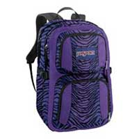 "Jansport Merit Backpack Fits Screens up to 17"" - Black/Purple Zebra"