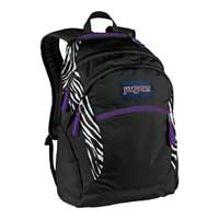"Jansport Wasabi Cosmo Poly Fits Screens up to 15"" - Black/White"