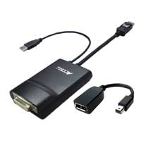 Accell UltraAV DisplayPort M + USB M to Dual Link DVI-D F Adapter