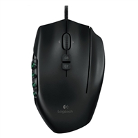 Logitech G600 MMO Gaming Mouse - Black