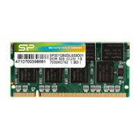 Silicon Power 1GB DDR-333 (PC-2700) CL2.5 SO-DIMM Laptop Memory Module