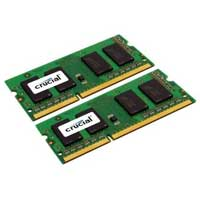 Crucial 16GB DDR3-1333 (PC3-10600) CL9 SO-DIMM Laptop Memory Kit (Two 8GB Apple Memory Modules)