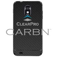 Clear Protector Phone Protector Samsung Galaxy S II Epic 4G Touch CARBN - Black