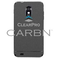 Clear Protector Skin for Samsung Galaxy S II Epic 4G Touch CARBN - Graphite