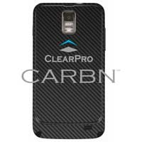 Clear Protector Samsung Galaxy S II Skyrocket CARBN - Black