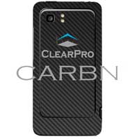 Clear Protector HTC Vivid CARBN Phone Protector - Black