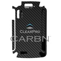 Clear Protector Atrix 4G Case - Black Carbon Fiber