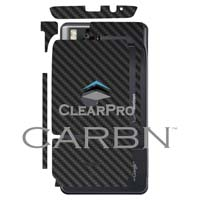 Clear Protector CARBN Skin for Motorola Droid X - Black