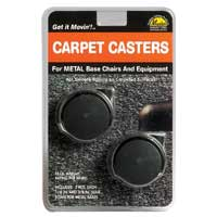 Master Caster Replacement Chair Casters for Carpeting 2 Pack