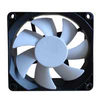 Purex 80mm Computer Case Fan with White Blade