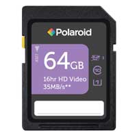Polaroid 64GB Class 10 Secure Digital Extended Capacity (SDXC / UHS-I) Flash Memory Card P-SDX64G10GEPOL