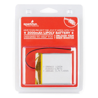 SparkFun Electronics 2000mAH Lithium Polymer Battery