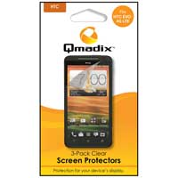 Qmadix 3 Pack HTC Evo 4G LTE Clear Screen Protector