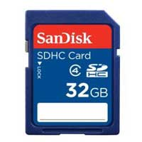 SanDisk 32GB SDHC Class 4 Flash Memory Card