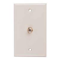 Just Hook It Up Coax Video Wall Plate - Ivory