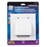 Just Hook It Up Dual Flat Panel Bulk Cable Wall Plate - White