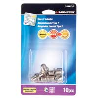 Just Hook It Up Adapter, Coax Female to Female 5-900 MHz 10-pack