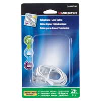 Just Hook It Up Telephone Line Cable 2ft. - White