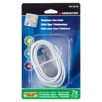 Just Hook It Up RJ-11 Male to RJ-11 Male Modular Telephone Line Cable 7 ft. - White