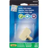 Just Hook It Up Modular Triplex Adapter 4-Conductor Ivory