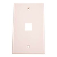 Just Hook It Up 1-Port Multi-Media Keystone Wall Plate - Almond