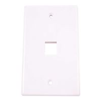 Just Hook It Up 1-Port Multi-Media Keystone Wall Plate - White