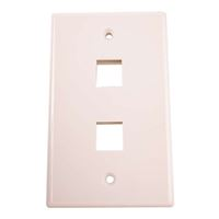 Just Hook It Up 2-Port Multi-Media Keystone Wall Plate - Almond