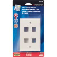 Just Hook It Up Multi-Media Keystone Wall Plate - Almond