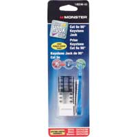 Just Hook It Up Cat 5e 90 Degree Keystone Jacks - White