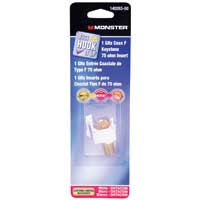 Just Hook It Up 1GHz Coax F-Type Connector Keystone Insert - White