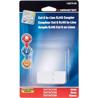Just Hook It Up Cat 6 Modular In-Line Coupler - White