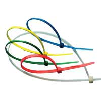 "Purex 4"" Self-Locking Multi-Color Nylon Cable Ties - 150 Pack"